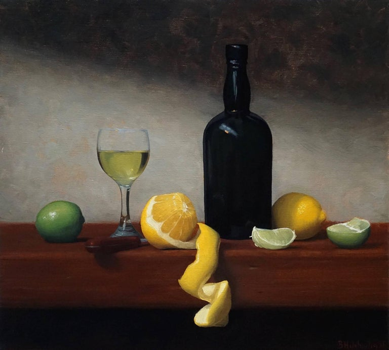 Brendan H. Johnston Still-Life Painting - Citrus and Wine