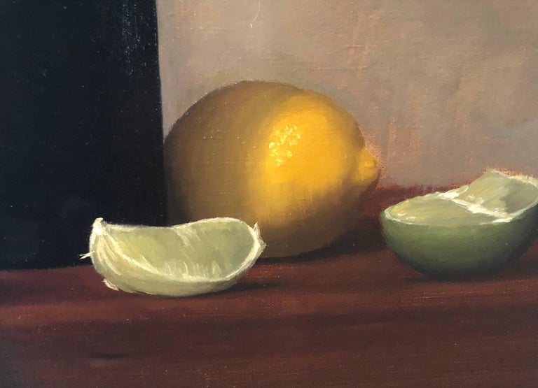 Citrus and Wine - American Realist Painting by Brendan H. Johnston