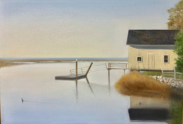 Heidi Palmer Landscape Painting - Boat House