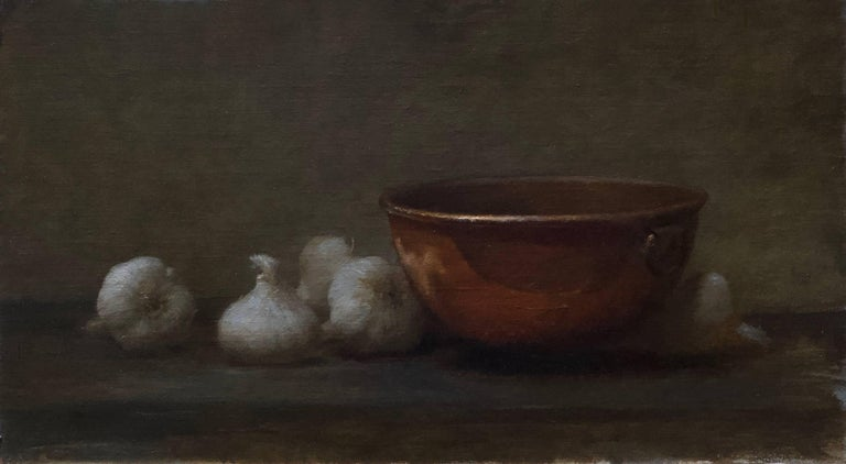 Dale Zinkowski Still-Life Painting - Garlic and Copper