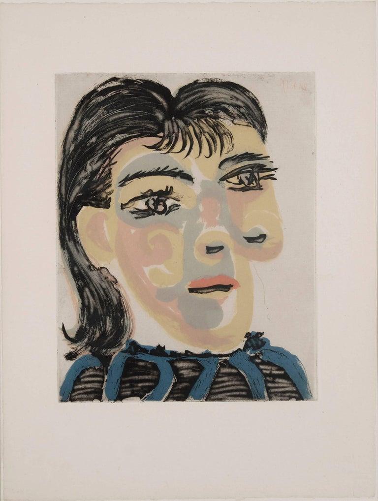 Pablo Picasso Portrait Print - Head of a woman n° 2. Portrait of Dora Maar
