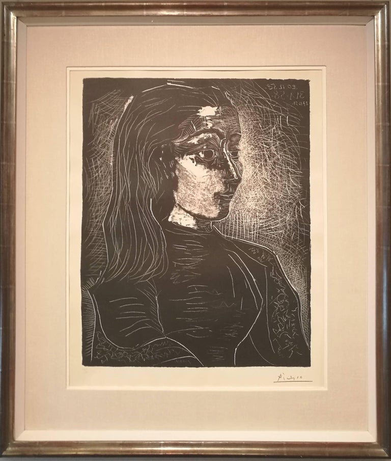 Jacqueline de Profil à Droite - Print by Pablo Picasso