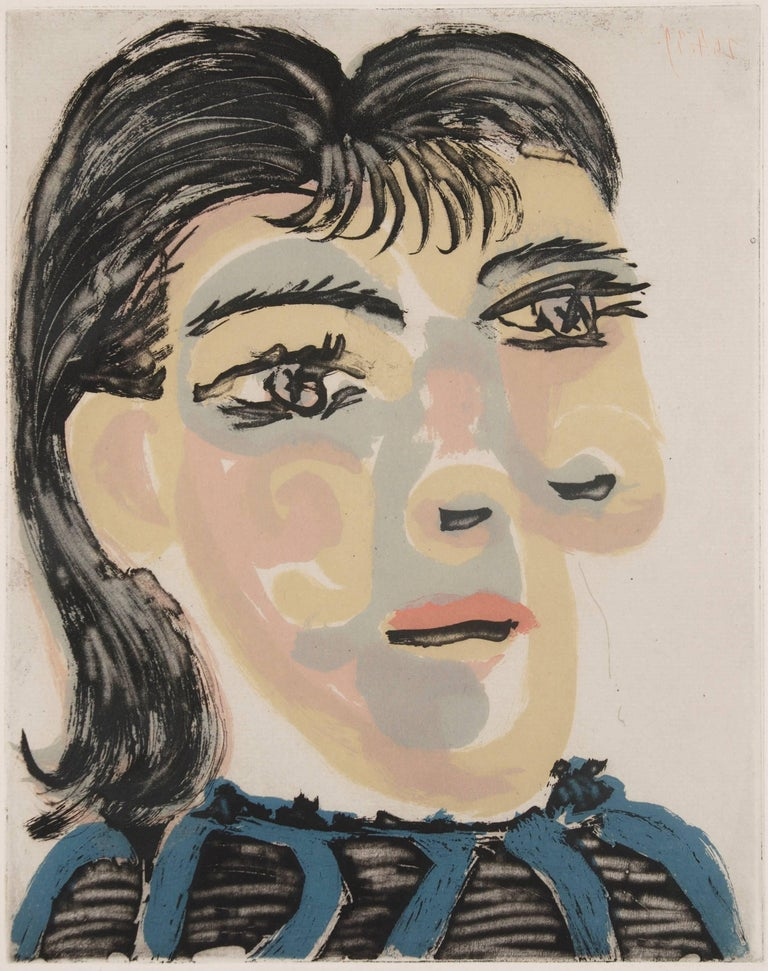Head of a woman n° 2. Portrait of Dora Maar - Print by Pablo Picasso