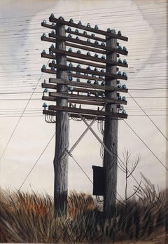 Nerves of a Nation(gouache by realist Stevan Dohanos of Sat Eve Post cover fame)