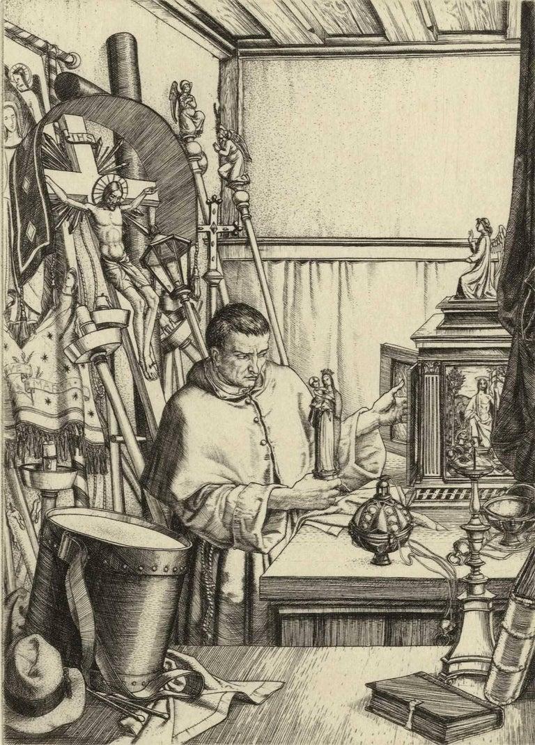 Harry Morley Interior Print - The Sacristan