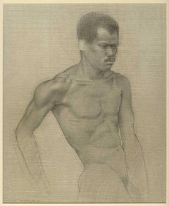 Man of Color (pencil drawing of a nude black man)