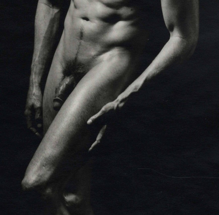 Stockton (full frontal male nude by pioneer female photographer) - Contemporary Photograph by Dianora Niccolini