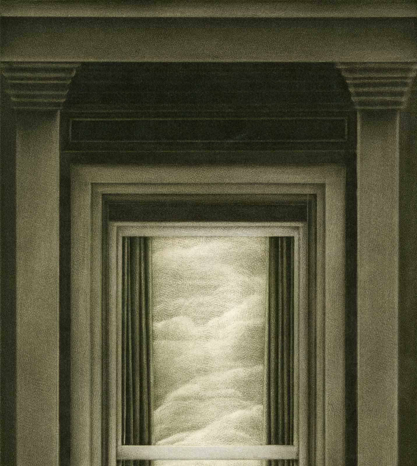 Cathedral of Dreams (Window to the world - Homage to Magritte) - Print by & Dorothea Wight - Cathedral of Dreams (Window to the world - Homage ...