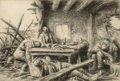Th Last Supper (Macabre World War I image /dead soldiers in a bombed out house)