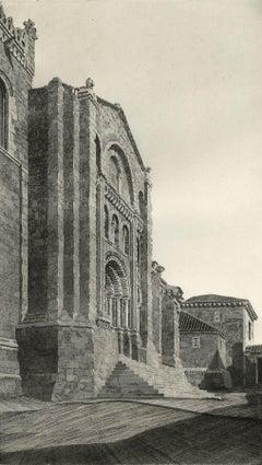 Puerta del Obispo ( Romanesque Spanish Cathedral)