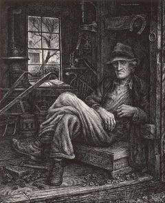 Ozark Farmer (A poor Arkansas blacksmith is shown in his kingdom of poverty)