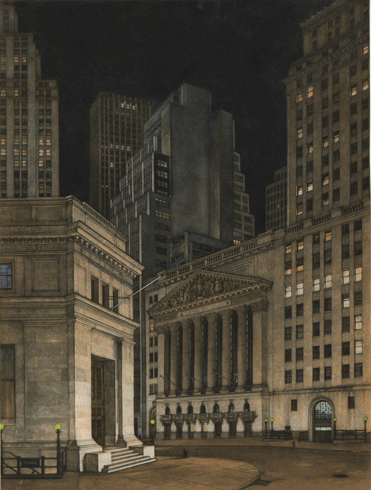 New York Stock Exchange (Symbolic icon of Wall St.'s vast power and wealth)