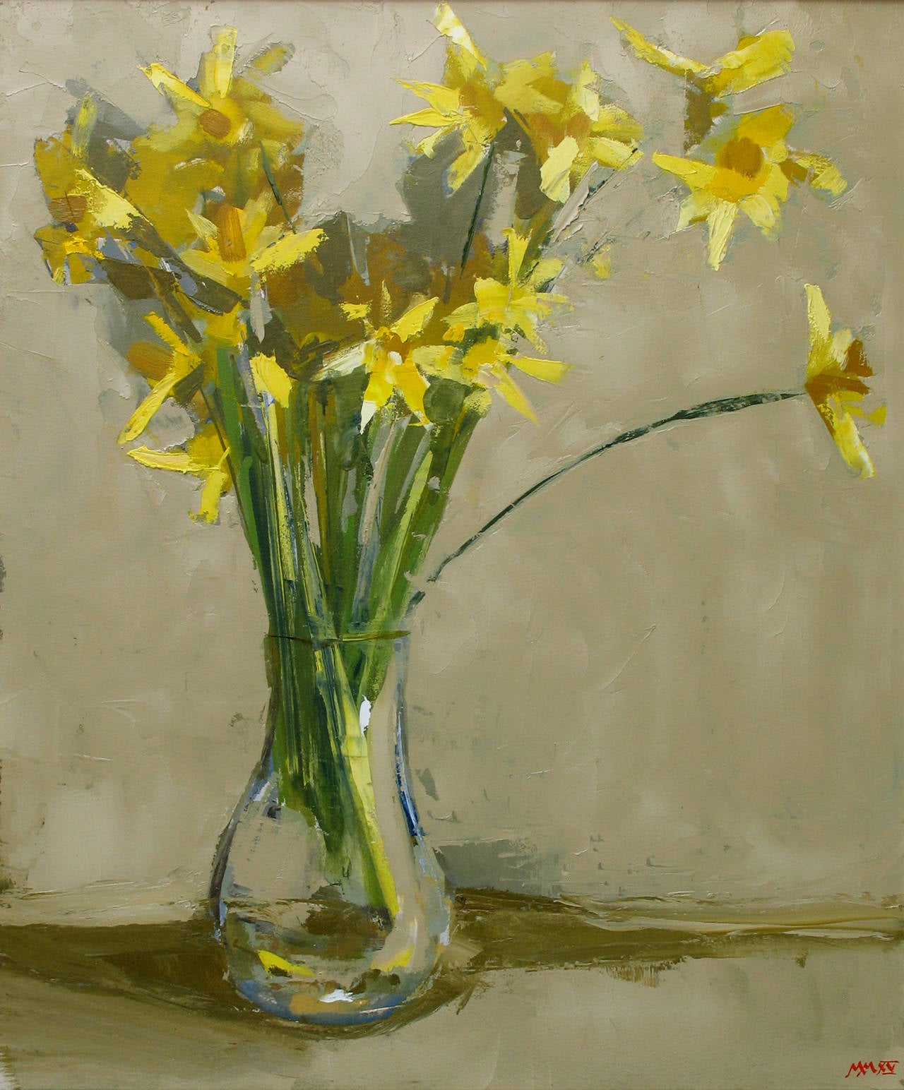 Martin Mooney Daffodils Painting At 1stdibs