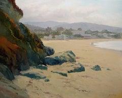 Laguna Main Beach Plein Air Oil Painting by Jacobus Baas