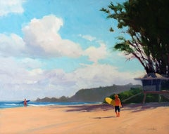 North Shore Hawaii Plein Air Oil Painting by Jacobus Baas
