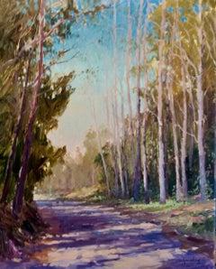 """Eucalyptus Path"" California Plein Air Oil Painting by Jacobus Baas"