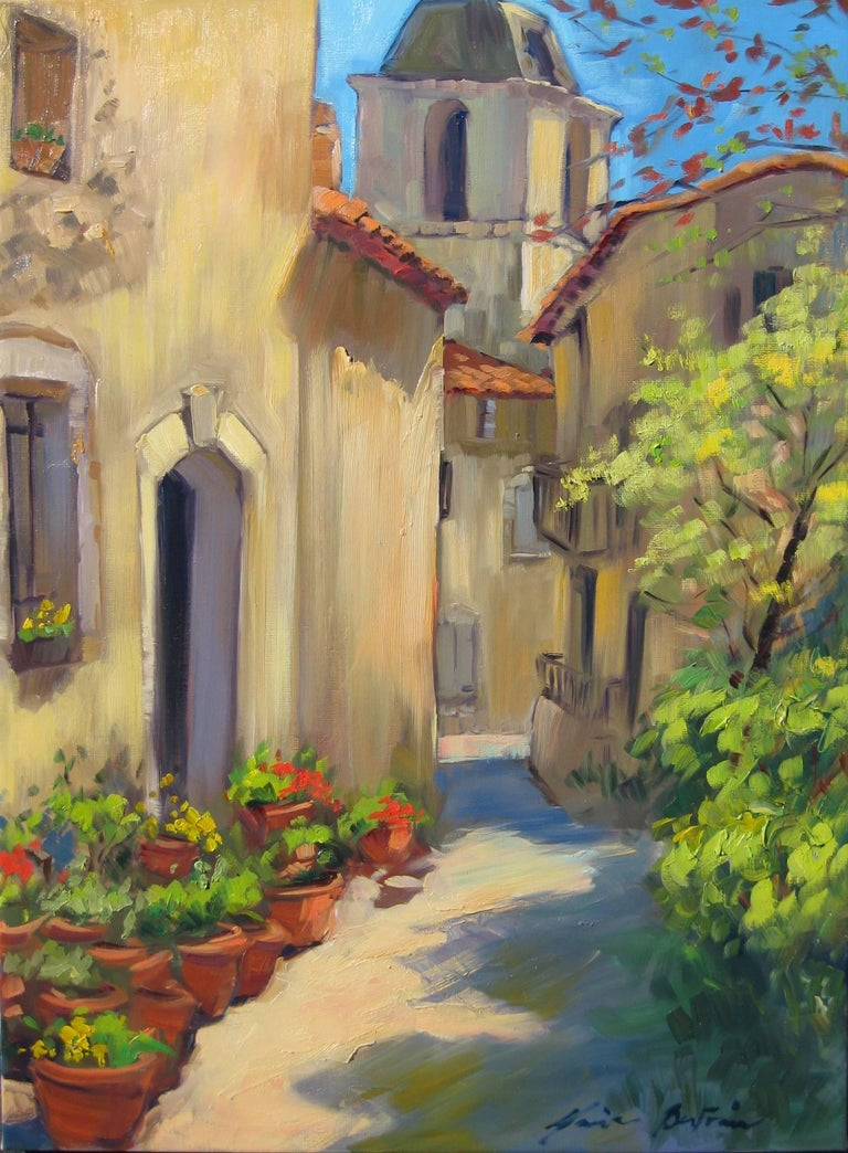 Contemporary Impressionist Oil Painting Of Provencal Street by Maria Bertran