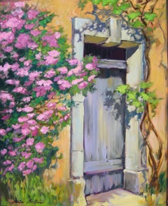 """""""Old School Doorway"""" Contemporary Impressionist Oil Painting by Maria Bertran"""