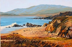 """Moonstone Beach"""" Central Coast Seascape Scene Oil Painting by Tom Swimm"
