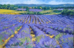 """Lavender Horizon "" Impressionist Oil Painting Of Provence by Maria Bertran"