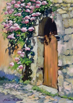 """Shower of Flowers"" Contemporary Impressionist Oil Painting by Maria Bertran"