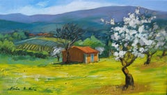 """""""The Beginning of Spring""""  Impressionist Painting in Provence by Maria Bertran"""