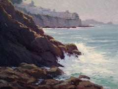 """Breaking Surf, Moss Point"" California Plein Air Painting by Jacobus Baas"