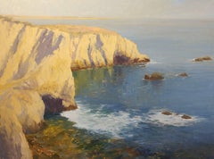 """Shelter Cove Reflections"" California Plein Air Oil Painting by Jacobus Baas"
