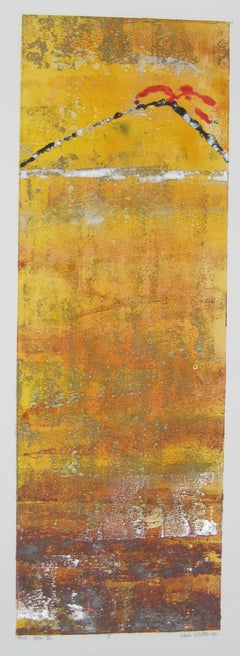 """""""More Pele III """"J"""" Mixed Media Abstract by Maui Artist Linda Whittemore"""