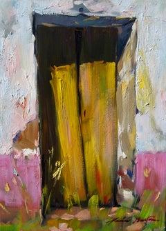 """Door To Spanish Garden""  Modern Impressionist Oil Painting of Spain"