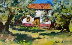 """""""Spanish Olive Grove""""  Modern Impressionist Oil Painting of Spain"""