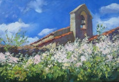 """""""Chapel Bell Tower""""  Modern Impressionist Oil Painting of Provence"""