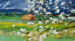 """""""Early Spring In The Luberon""""  Modern Impressionist Oil Painting of Provence"""