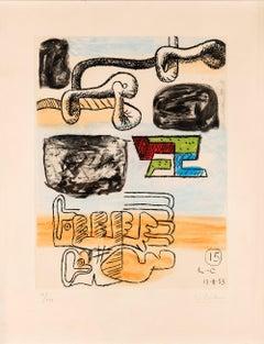 """LE CORBUSIER, """"UNITÉ"""" PLANCHE 15, IX/XXX"""