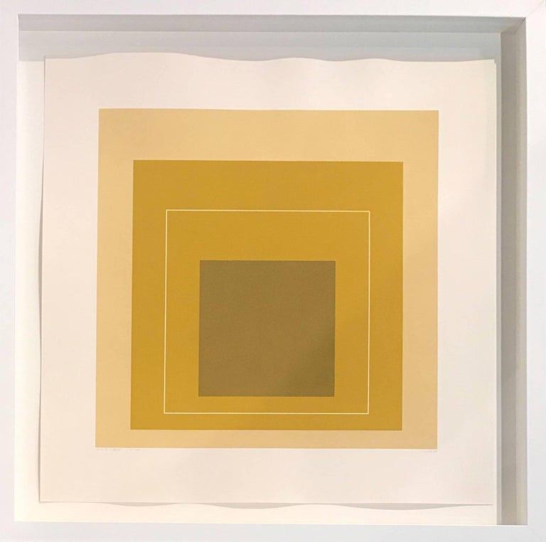 Josef Albers Abstract Print - wls-xvi - from the white Line Squares (Series II)
