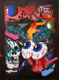 A Simple Trip - original street art painting by Smurfo