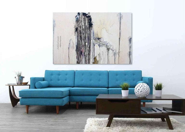 Cloud Series No. 2 - original oversized abstract painting by Kieva Campbell For Sale 1