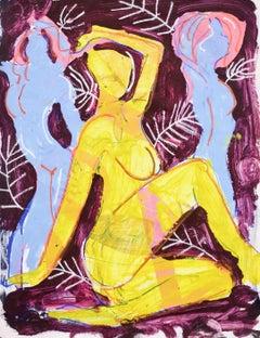 3 Study - original figurative painting by Christopher Johnson