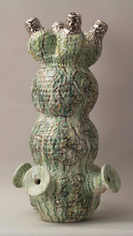 Carole seborovski the sound of spring clay sculpture