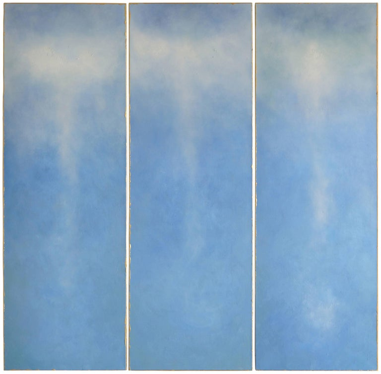 Julie Hedrick Abstract Painting - ARIADNE'S GOLDEN THREAD
