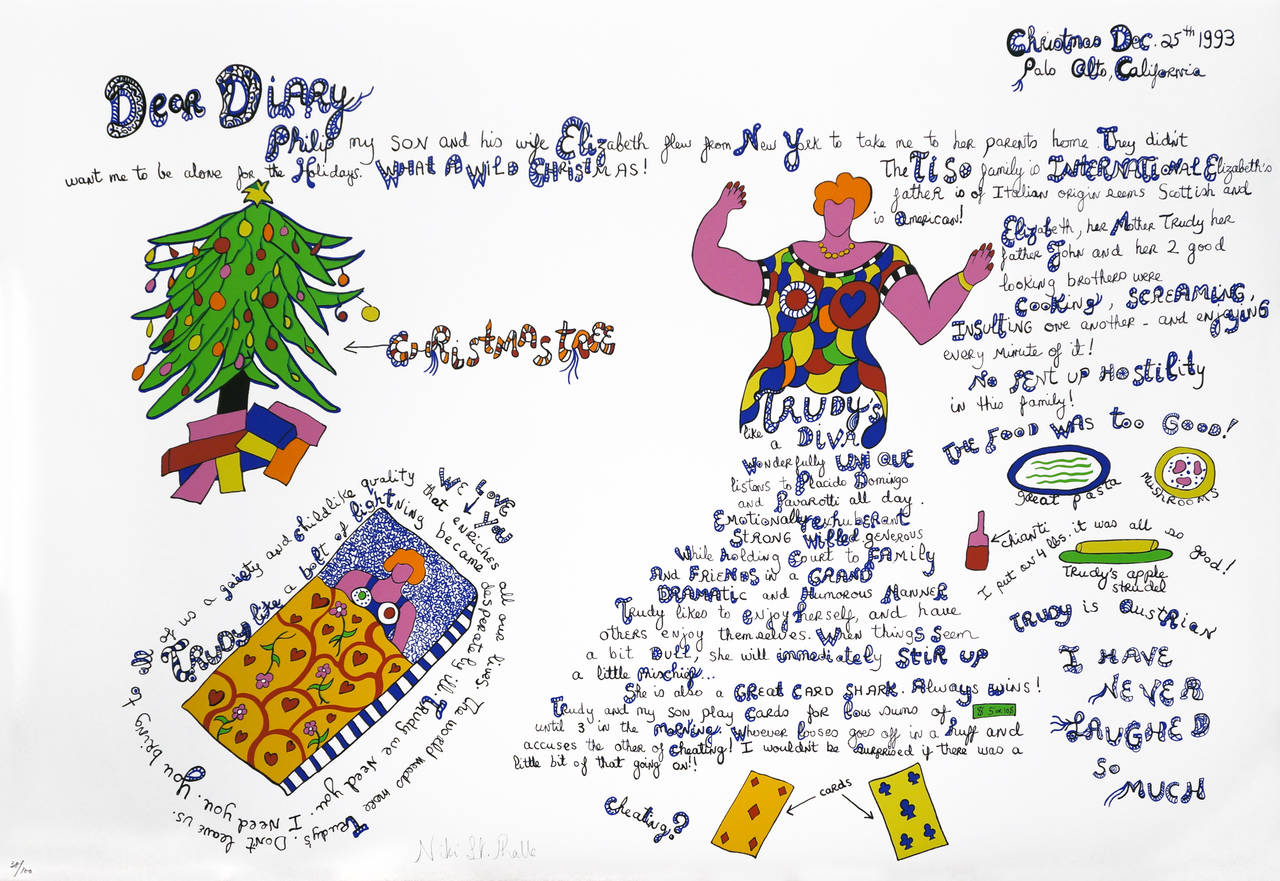 Niki De Saint Phalle Drawings