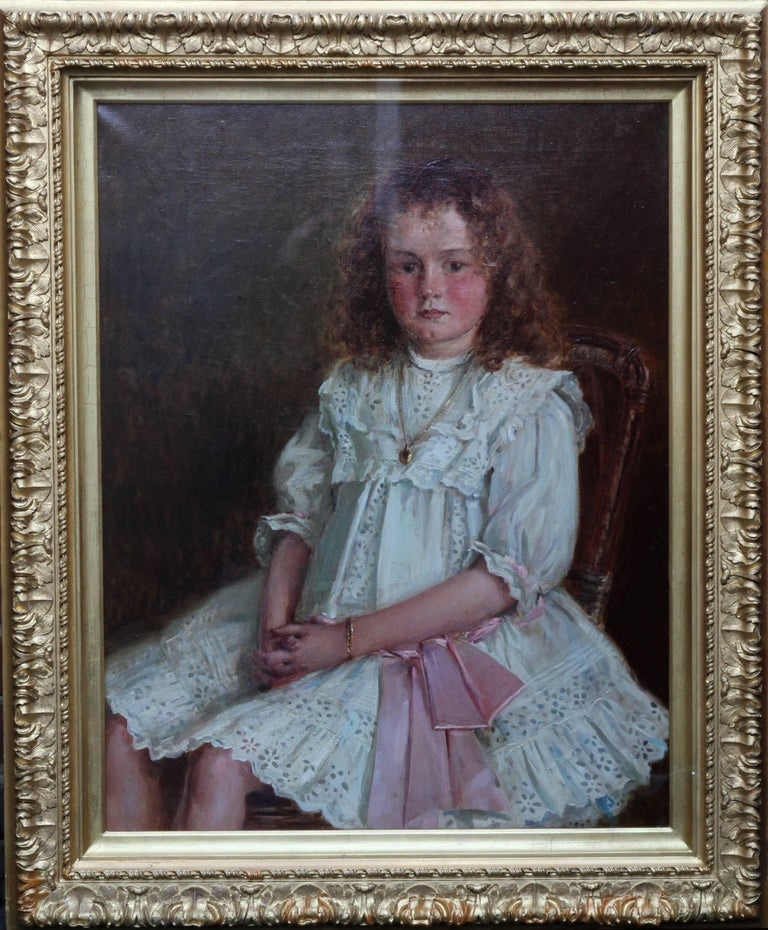 Portrait of a Young Welsh Girl - Enid Richards - British Edwardian Staithes