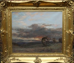 Stormy Sunset at Aberfoyle - Scottish impressionist landscape oil painting