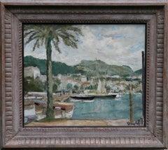 Sanary-sur-Mer - Irish Impressionist oil painting French boating marine scape