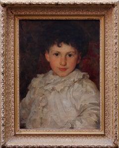 Dorian - Portrait of artist son. Edwardian British Portrait oil painting