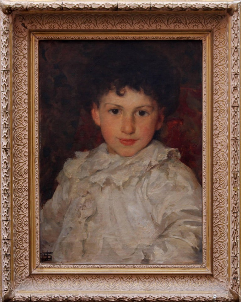 Dorian - Portrait of artitst's son. Edwardian oil painting