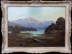Loch Sunart - British oil painting sea loch western Scotland landscape mountains