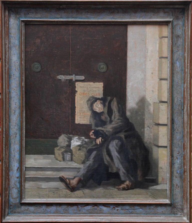 Ciros Life - British oil painting man theatre doorway inter war