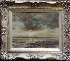 Arran Seascape - Scottish Impressionist oil painting Scotland sea sky gold