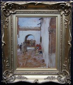 Tangier -  South Gate at Mogador Morocco - Scottish Impressionist Glasgow Boy